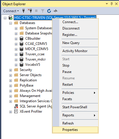sql server default data and log file