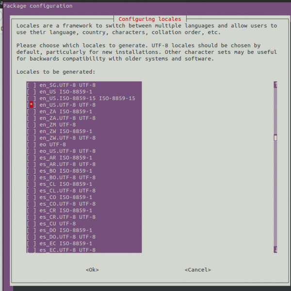 Configure locales on Linux